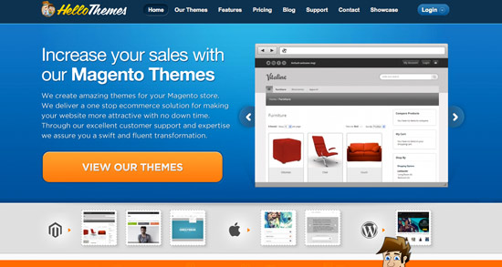 Hello Themes Website Header