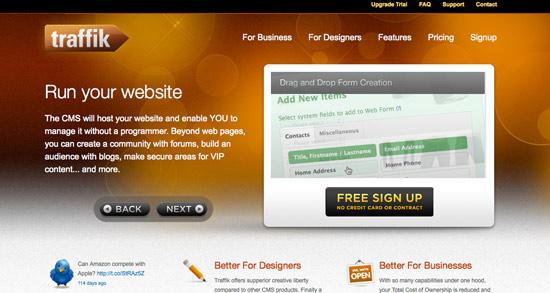 Traffik Website Header