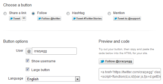 twitter follow button code