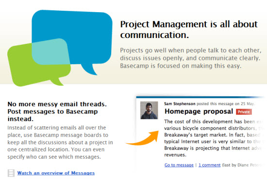 Basecamp Landing Page Copy