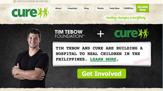 Cure Internation Website Design