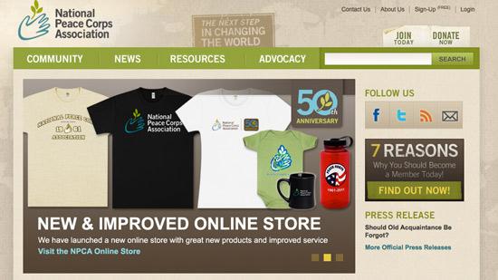 National Peace Corps Website Design