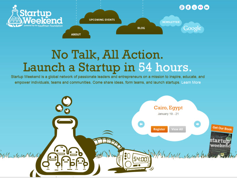 Start Up Weekend Using WordPress