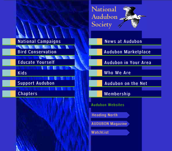 National Audubon Society Website from 1990s