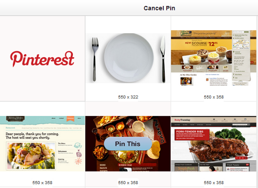 Pinterest Image Selection