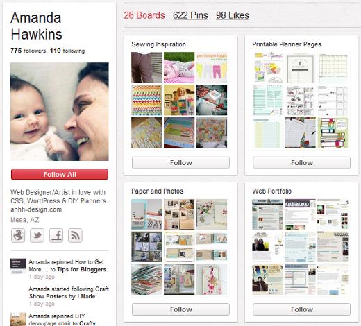 Pinterest Web Design Portfolio