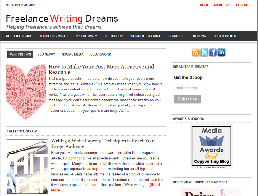 Freelance writing dreams