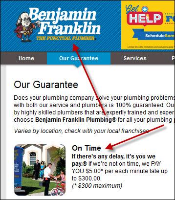 Benjamin Frankline Plumbing Guarantee