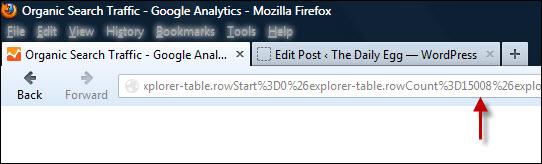 Export limit in Google Analytics