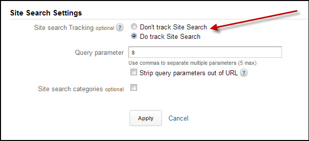 Site Search Settings