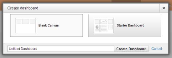 GA - add dashboard options