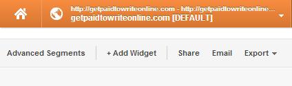 GA - add widget menu