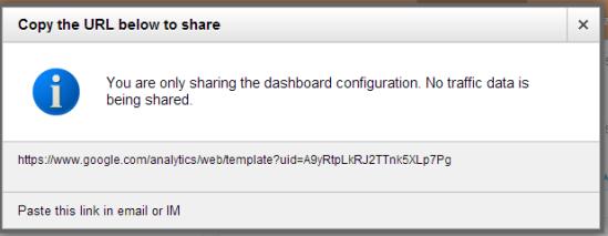 GA - sharing a dashboard