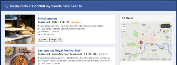 example of facebook graph search results