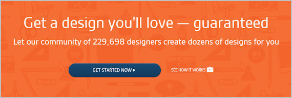 99designs home page