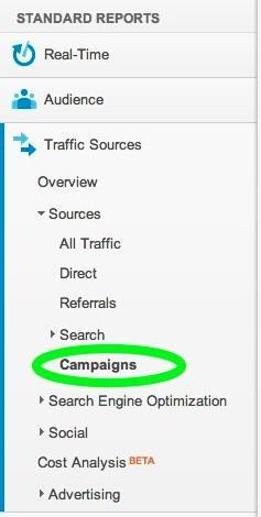 screenshot of Analytics campaigns