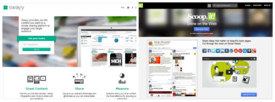 Social Sharing and Social Analytics–Swayy vs Scoop.it