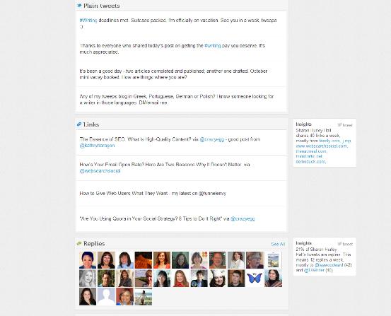 plain tweets links