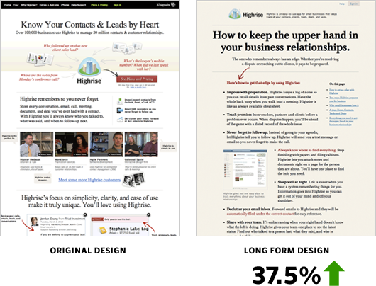 High rise conversion optimization case study