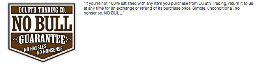 Duluth Trading Co No Bull