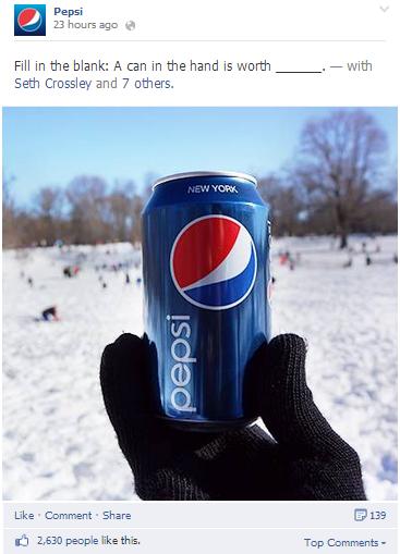 Facebook Pepsi