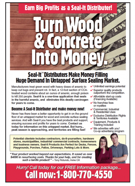 turn wood and concrete into money