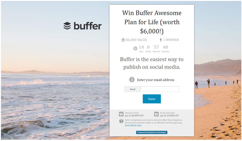 buffer conversions giveaway