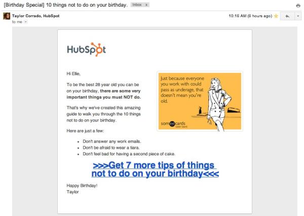 personalized birthday greeting