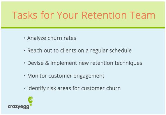 task for retention team