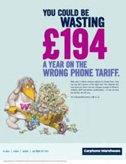 wasting euros on phone tariff