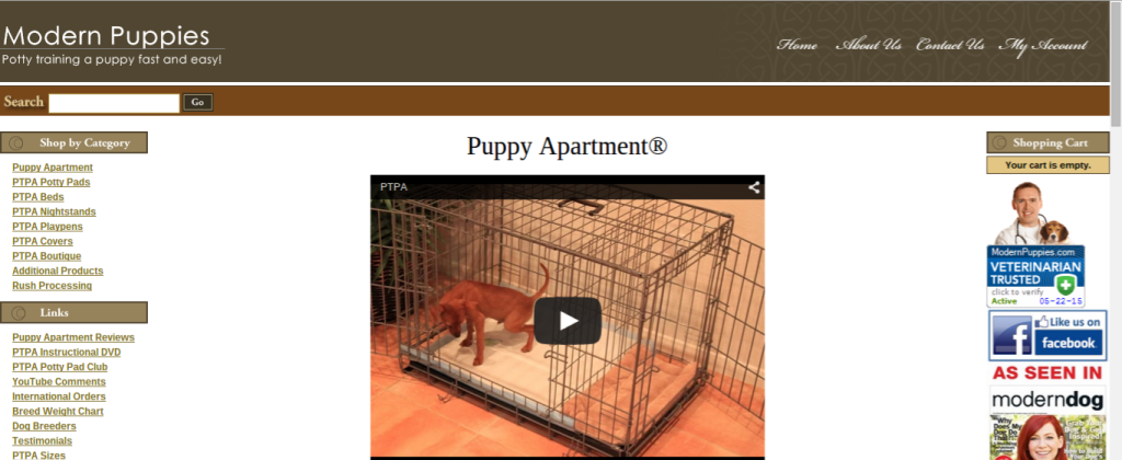 puppy training landing page