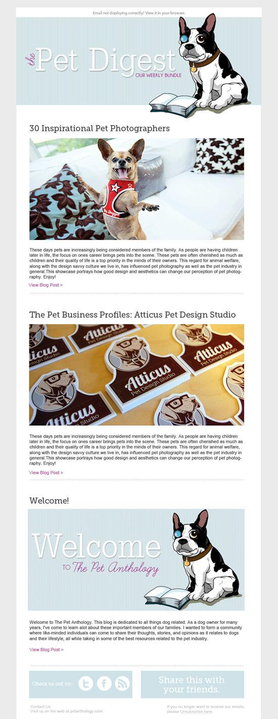 pet marketing newsletter