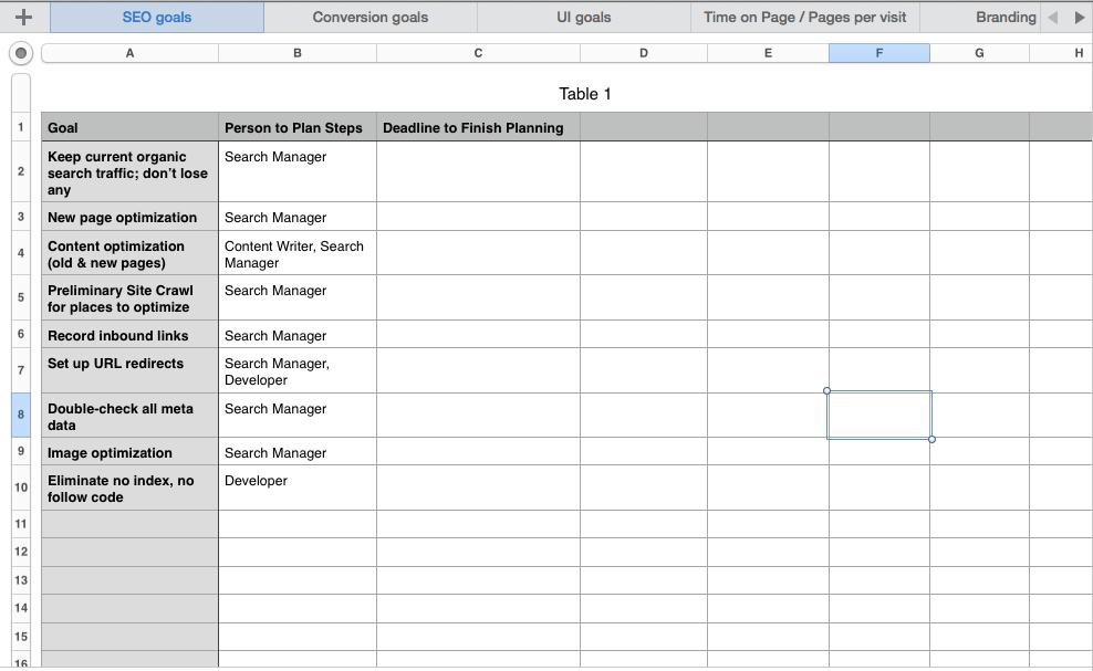 Tracking Sheet 3