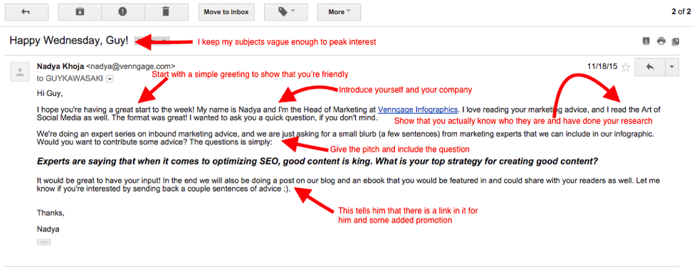 How to reach out to influencers so that they cant say no email to guy kawasaki pronofoot35fo Images