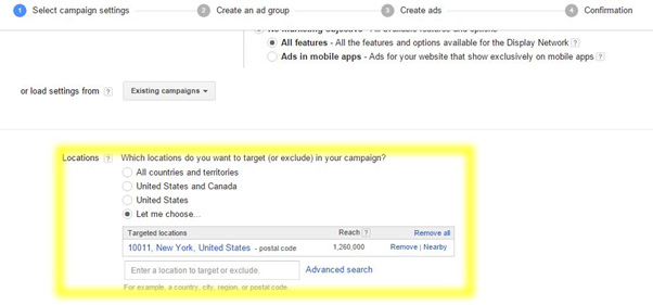 google adwords select campaign settings