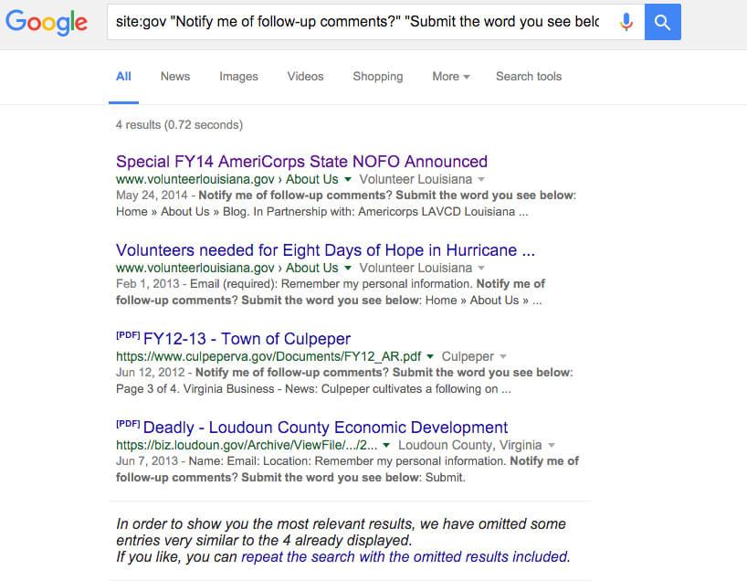 google search advanced government