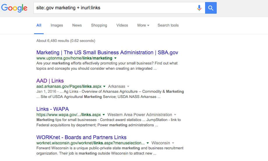 google search gov site