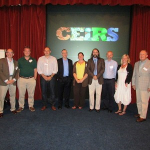 Group photo of the nine CEIRS principal investigators