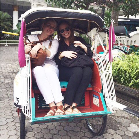 Indonesian rikshaw - square