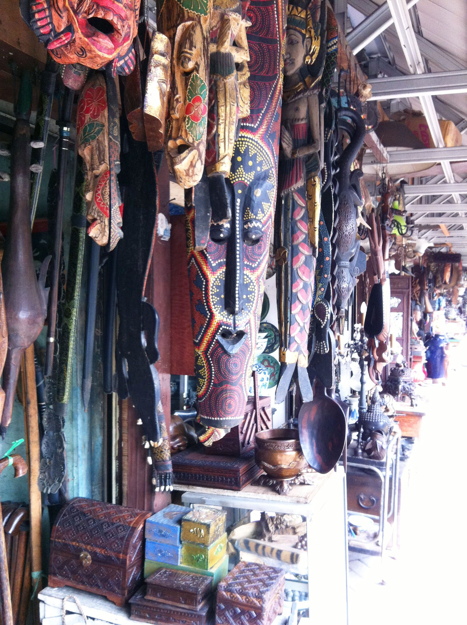 hanging masks - indonesia - edited
