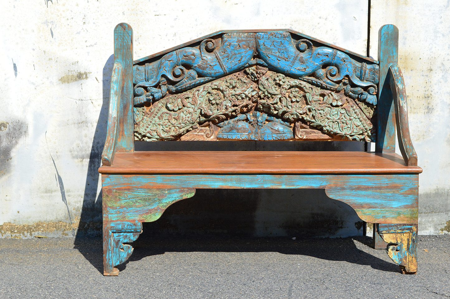 One-of-a-kind blue bench 72