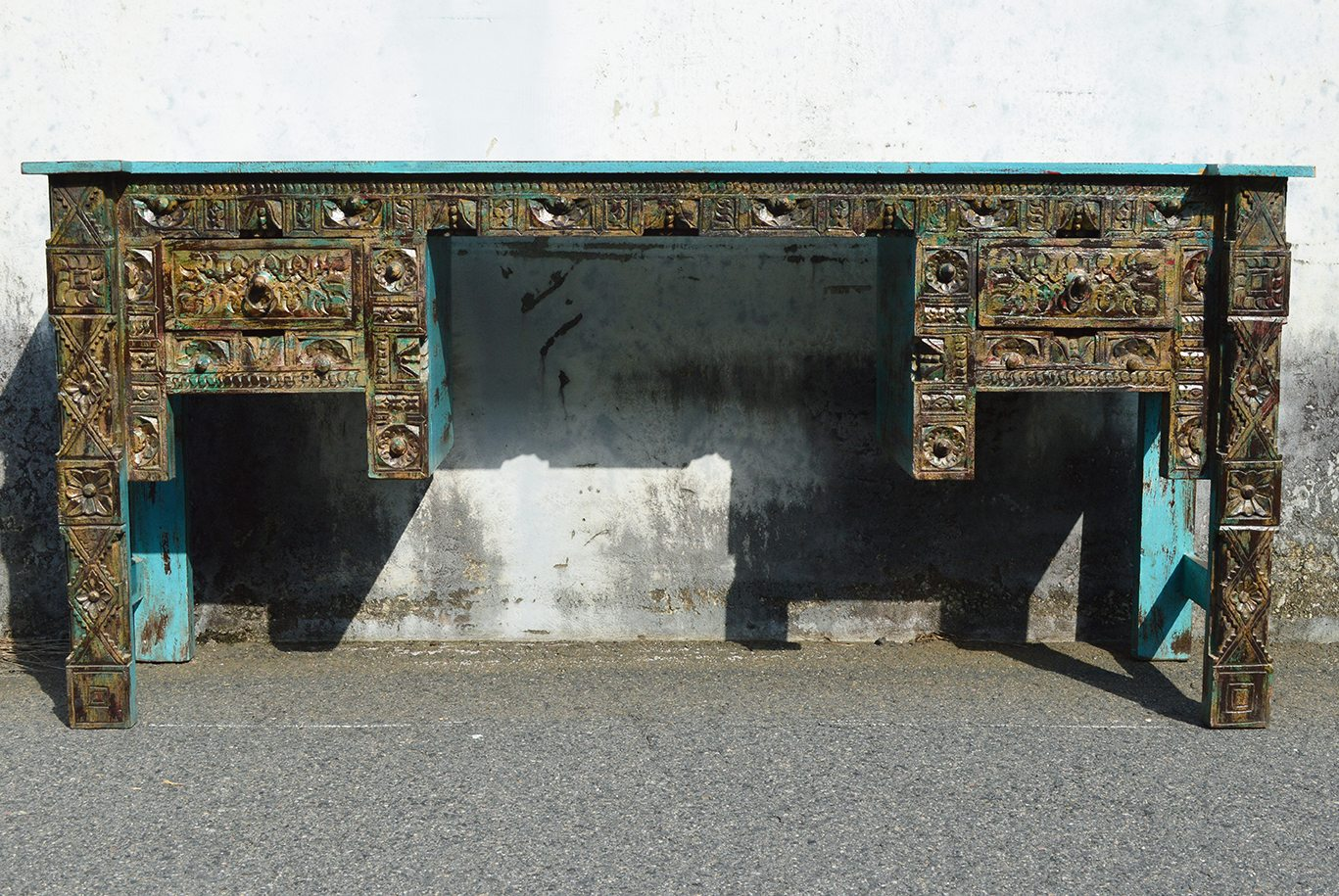 One-of-a-kind blue desk 72