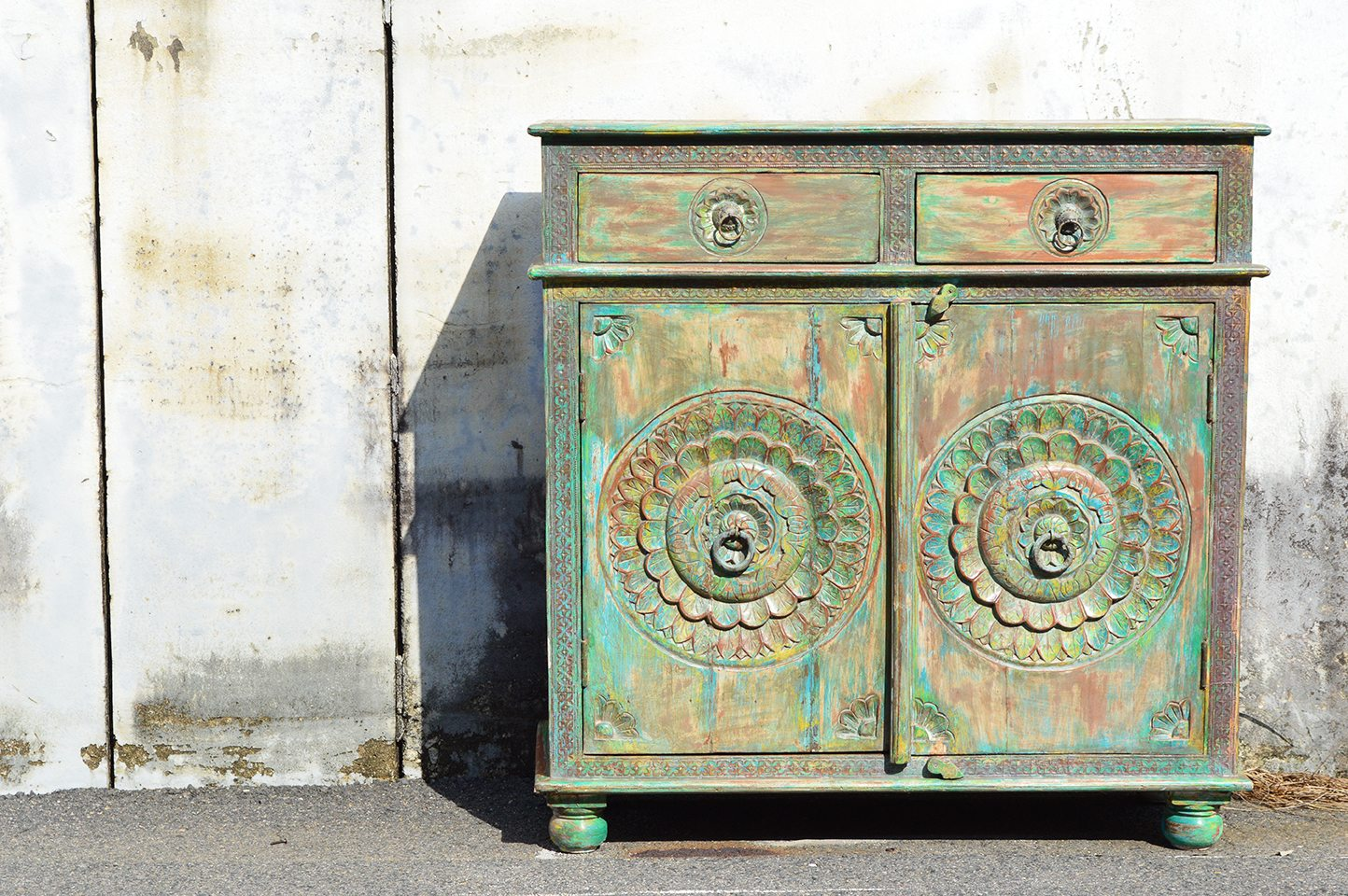 One-of-a-kind green cabinet 72