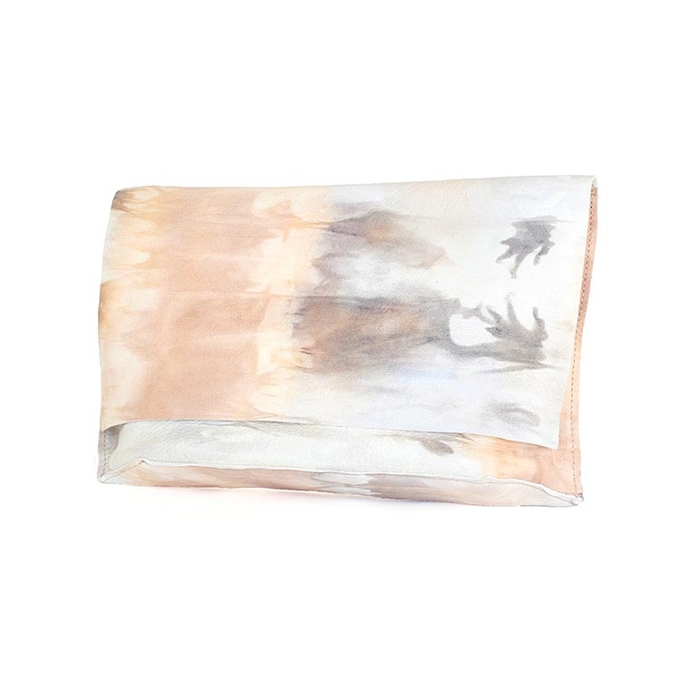 carmen closed tie dyed clutch