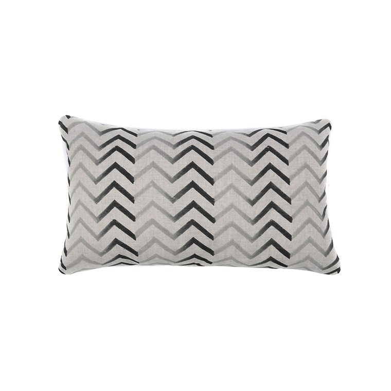 Zig Zag Charcoal Throw Pillow l #shopceladon