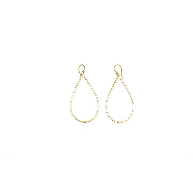 Brass Teardrop Earring l #shopceladon