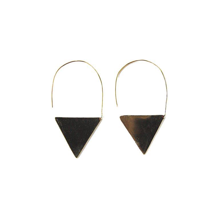 Brass Oningun Earrings l #shopceladon