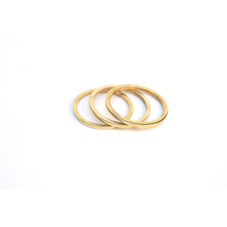 Square Edge Brass Bangle l #shopceladon