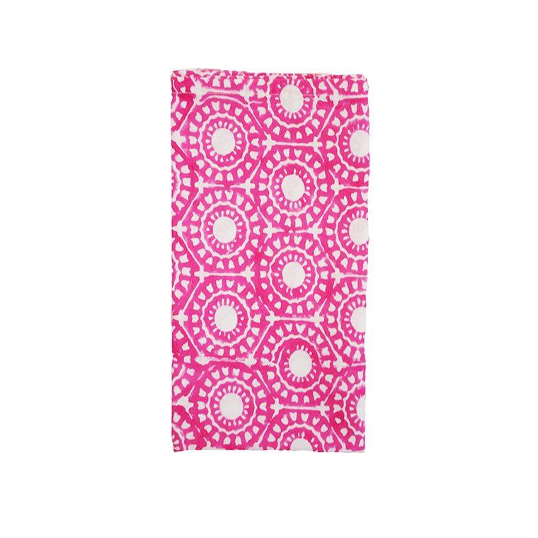 Block Printed Pink Cotton Napkin l #shopceladon