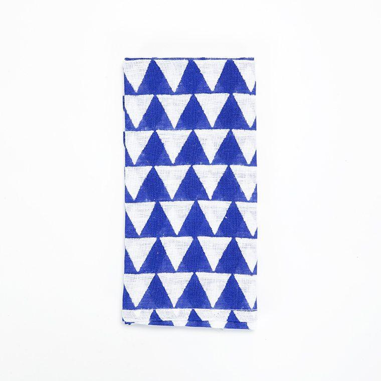 Blue Diamond Linen Napkin l #shopceladon